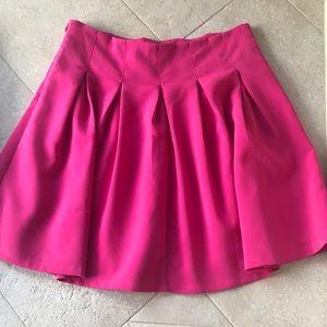 Tobi hot pink pleated skirt